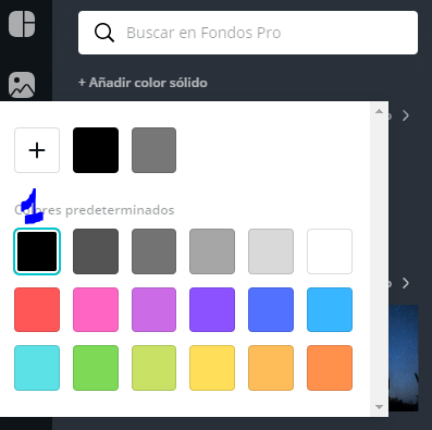 color negro canva